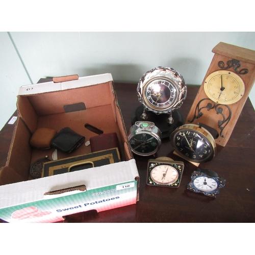 110 - 1950s Majckrussian 17 jewel desk clock, a