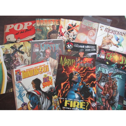 112 - Marvel Nights Magazine Aug 2001, Marvel Comics Thunderbolt number 49-direct edition Top Cow comics i...