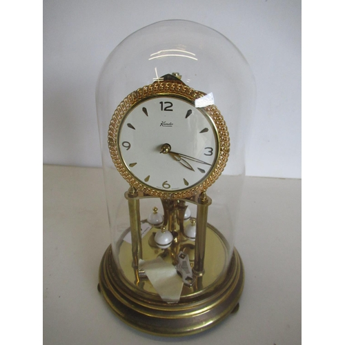 420 - Kundol four hundred day suspension clock, under glass dome (complete with original purchase receipt ...