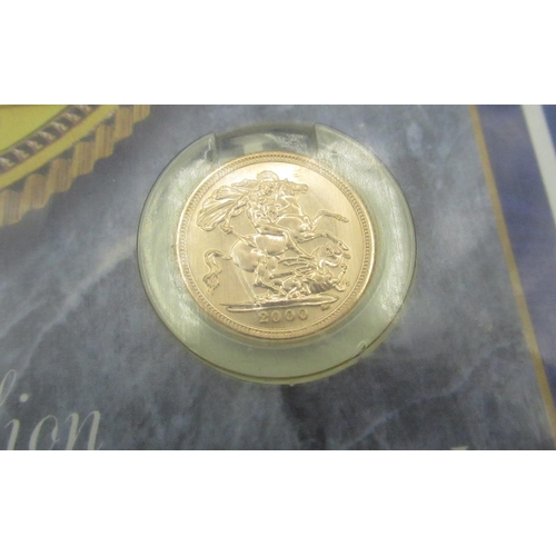 35 - ER.11 gold Half-Sovereign, 2000, uncirculated Royal Mint issue of 250,000, in original Gold Bullion ...
