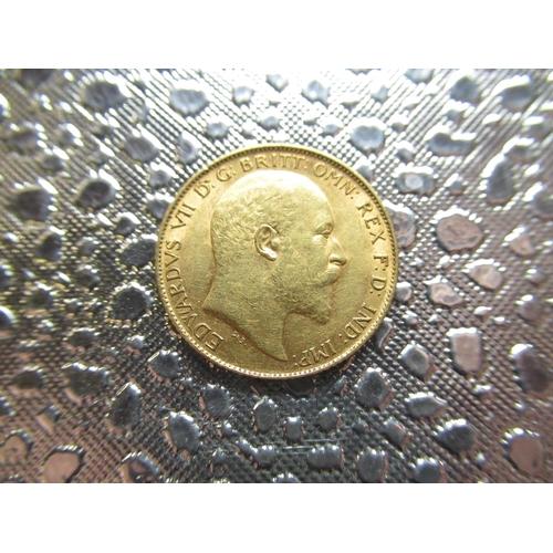 36 - Edw.V11 gold Half-Sovereign, 1910...