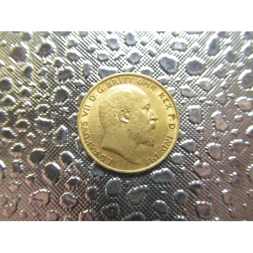 37 - Edw.V11 gold Half-Sovereign, 1910...