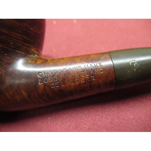 451 - Selection of pipes including five Meerschaum including cavaliers, a stag etc, a small selection of b...