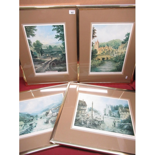 453 - Set of Ltd edition signed artist prints by William Chamberlain of Cumberland farm, Wycoller castle, ...