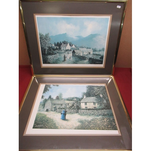 454 - Pair of William Chamberlain prints signed by the artist baring the blind stamp of the fine arts trad...