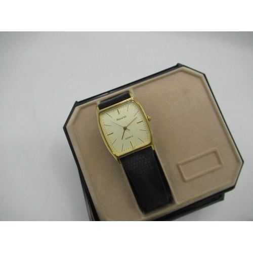 481 - Montine gold plated hand wound wrist watch, Yeoman 17 jewel gold plated writ watch and other mechani...