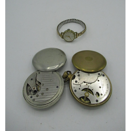 1 - Perfection USA keyless open faced pocket watch. Silverode case, screw off bezel and case back No 505...