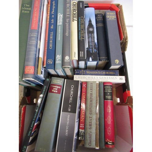 472 - Collection of books relating to Winston Churchill, including