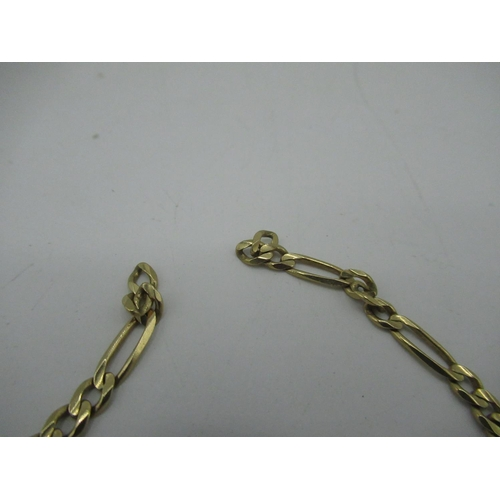 19 - 9ct gold 4mm figaro chain necklace with lobster claw clasp (AF) L46cm 8.9g