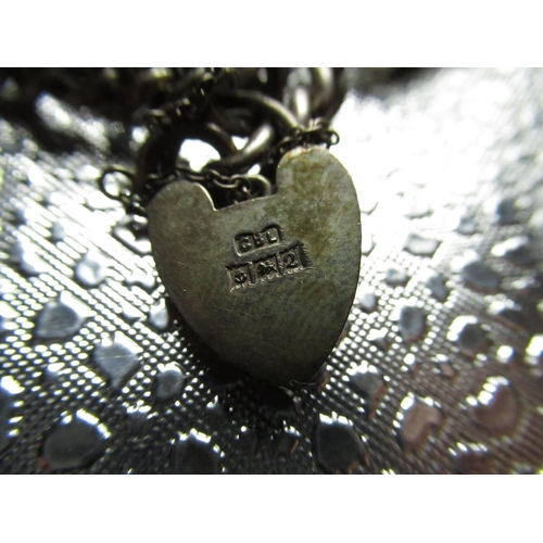 26 - Sterling silver charm bracelet including purse, ship in a bottle, car etc stamped 925 1.5ozt