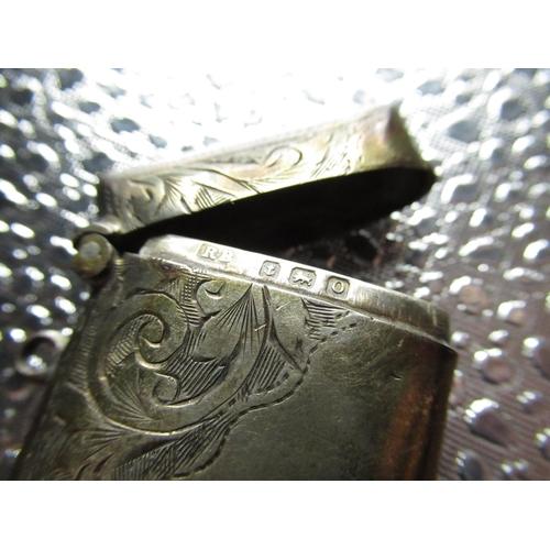 27 - Sterling silver hallmarked match box, a Sterling silver stamped 925 snuff box, Sterling silver gents...