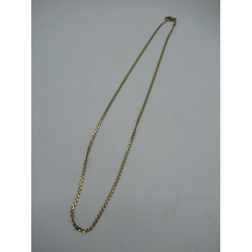 34 - Hallmarked 9ct gold flat figure eight chain necklace with lobster claw clasp L50cm 6.6g