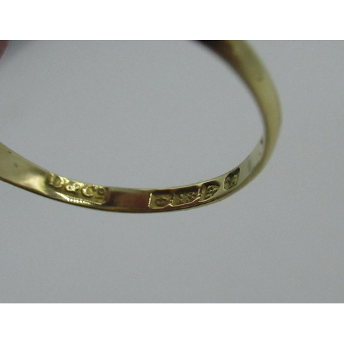 7 - Early C20th hallmarked 18ct gold diamond and opal ring, Chester, 1901 Size O gross 2.3g