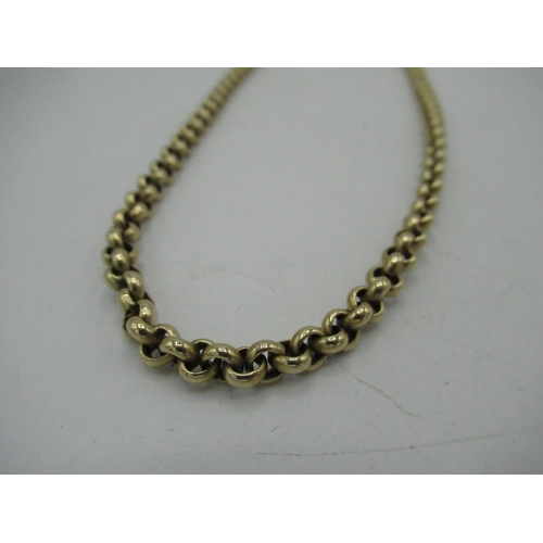 9 - 9ct gold cable chain necklace with lobster claw clasp  L54cm, 17g