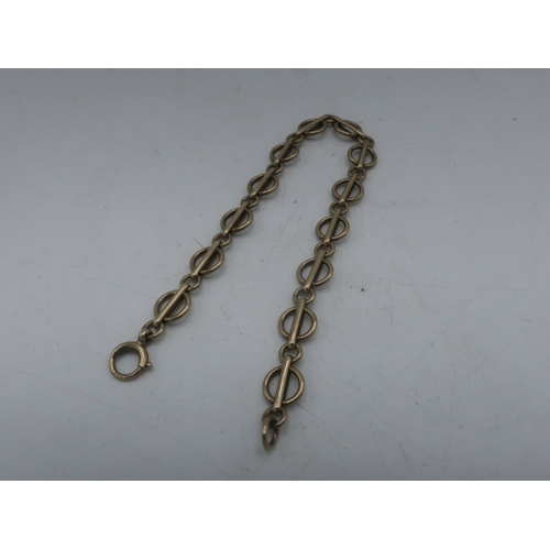 111 - 9ct gold chain bracelet with spring ring clasp stamped 375 L19cm 10g