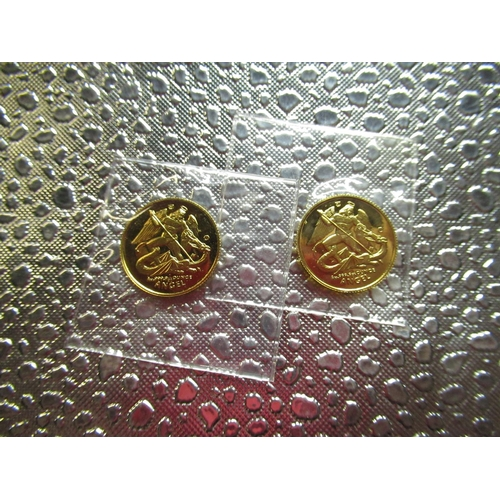 23 - Two one twentieth ounce Isle of Man Angel gold coins dated 1995 (2)