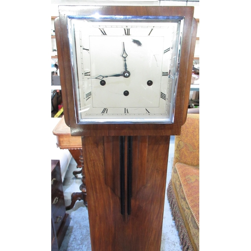 122 - 1920's /30's walnut cased grandmothers clock with square face