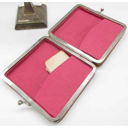 38 - Art Deco silver hallmarked handled manicure set comprising of nail file, cuticle pusher, cuticle nip...