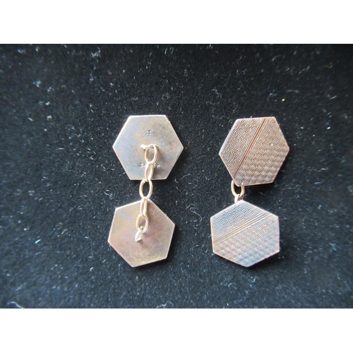 48 - Collection of costume jewellery including a pair of hexagonal cufflinks stamped silver, yellow metal...