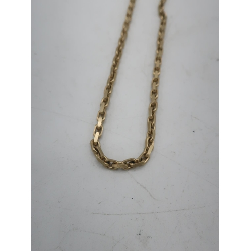 9 - 9ct gold chain link necklace with lobster claw clasp stamped 9K L60cm, 18.6g