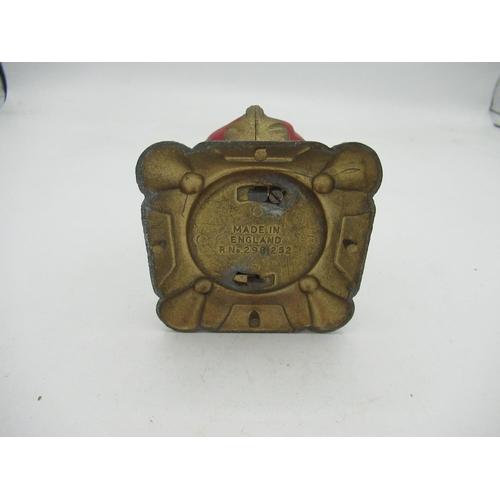 38 - Metal crown money box commemorating the 1953 coronation