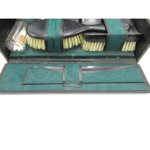 42 - Vanity case with plush green interior