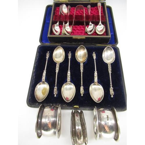 14 - Set of six Victorian hallmarked Sterling silver apostle spoons by John Millward Banks, Birmingham, 1...