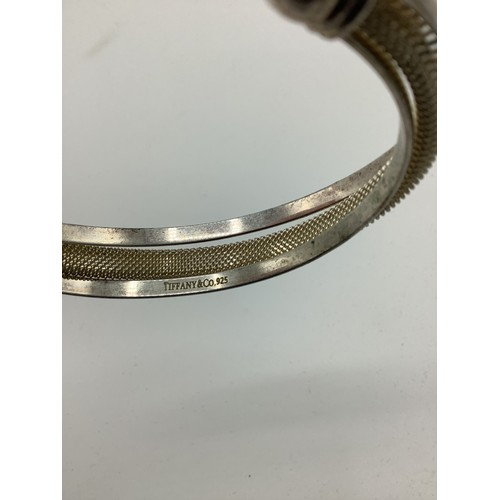 5 - Silver bangle, stamped Tiffany & Co. .925, diameter 8cm
