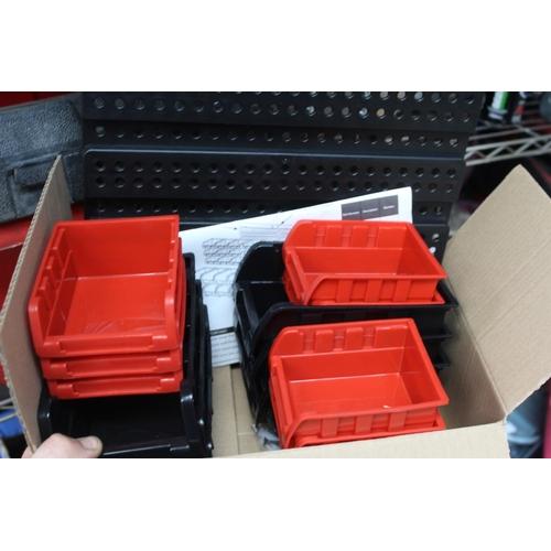 18 - 32 PIECE WALL MOUNT STORAGE BOX...