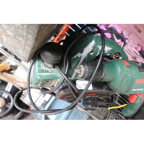 42 - BOSCH DRILL AND PLANER...
