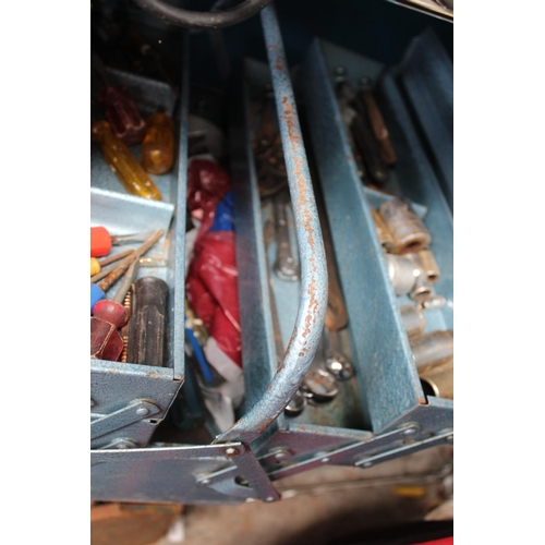 46 - METAL TOOLBOX AND CONTENTS...