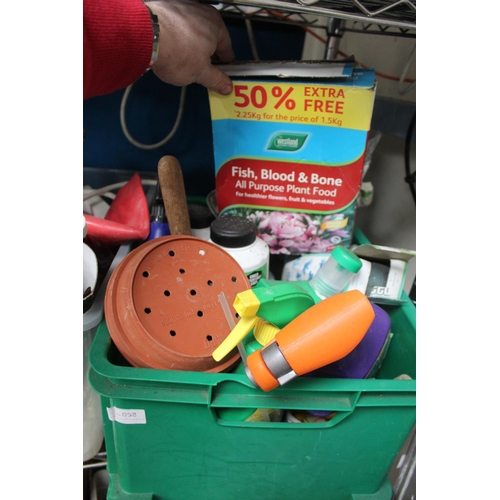 58 - BOX OF GARDEN AND FISH PLANT FOOD