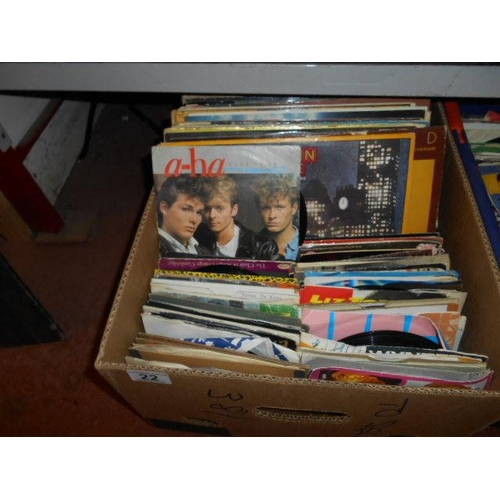 22 - Box of Singles and LPs...