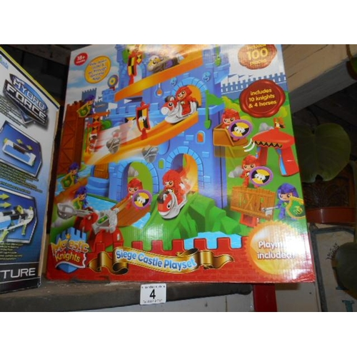 4 - Siege Castle Playset- as new...