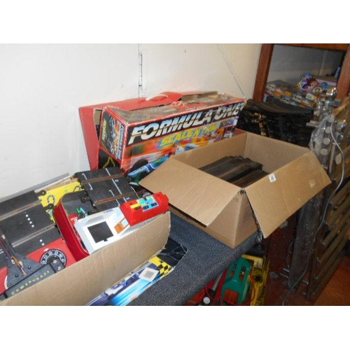 45 - Large selection of Scalextric- including cars, tracks, accessories...