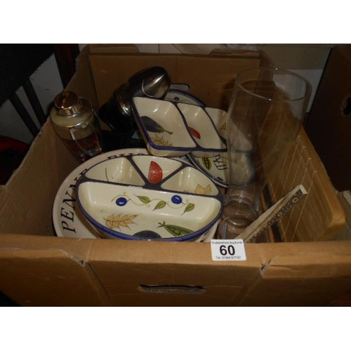 60 - Box of good bric and kitchenalia...