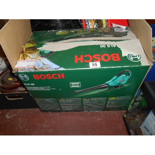 55 - Boxed Bosch as new leaf blower...