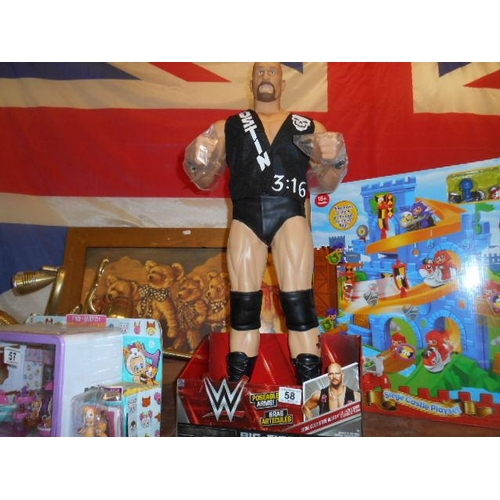 58 - WWE Stone Cold big figure...