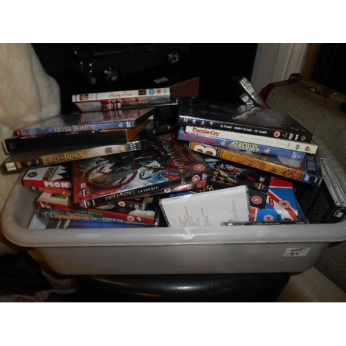 31 - Selection of DVDs and CDs...