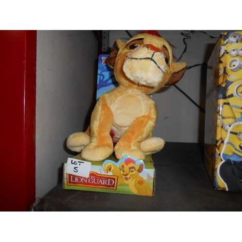 5 - Cuddly Lion Guard toy- as new...