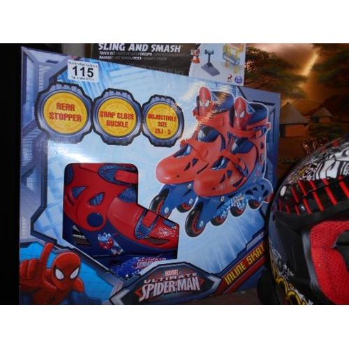 115 - As new Boys Spiderman skates...