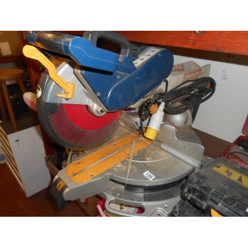 129 - Ryobi joiners mitre chop saw...