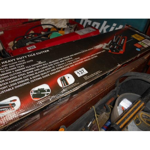 137 - Magnusson heavy duty tile cutter...
