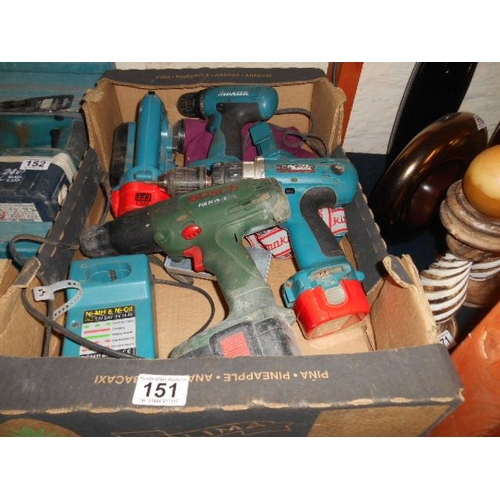 151 - Large selection of power tools including Makita and Bosch...