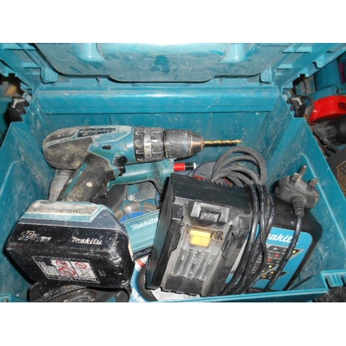 153 - Good selection of Makita power tools and case...
