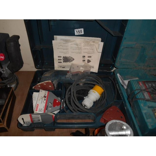 155 - Bosch 110v sander and case...