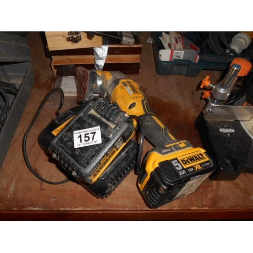 157 - Dewalt 18v cordless sander and accessories...