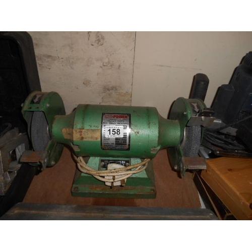 158 - Heavy duty bench grinder...