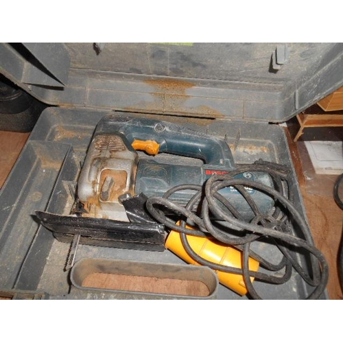 159 - Bosch 110v jigsaw and case...