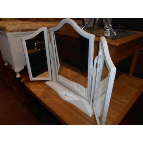 208 - Shabby chic triple mirror...